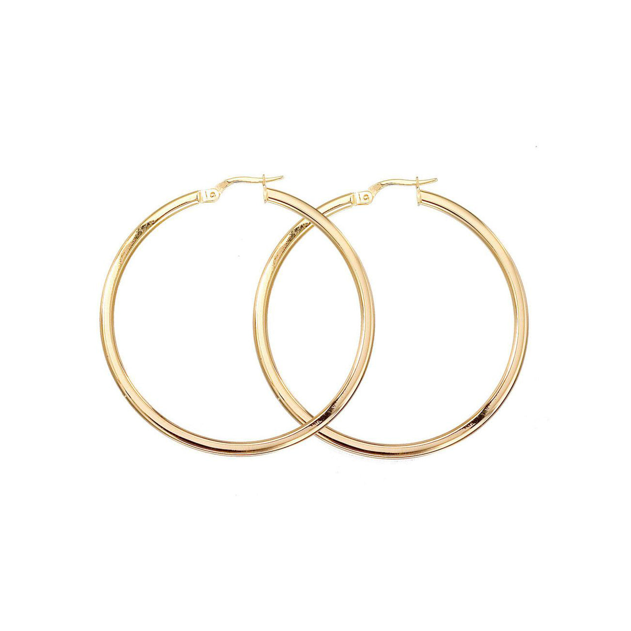 Roberto Coin Perfect Gold Hoops Large Yellow Gold Hoop Earrings