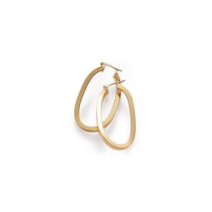 Roberto Coin Designer Gold Curved Yellow Gold Hoop Earrings
