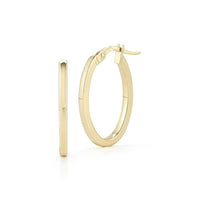 Roberto Coin Perfect Gold Hoops 18K Yellow Gold Petite Oval Hoop Earrings