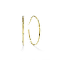 IPPOLITA Classico 18K Yellow Gold #4 Faceted Hoop Earrings