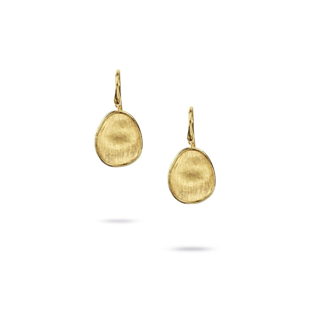 Marco Bicego Lunaria 18K Yellow Gold Hand-Engraved Dangle Earrings