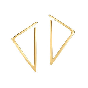 Roberto Coin Designer Gold Bold Triangle Earrings