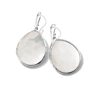 IPPOLITA Wonderland Sterling Silver Large Gemstone Teardrop Earrings in Mother-of-Pearl