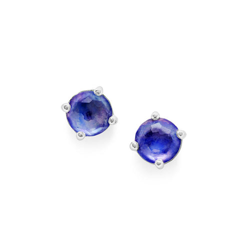 IPPOLITA Rock Candy® Mini Stud Earrings in Lapis, Clear Quartz, and Mother-of-Pearl Triplet