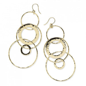 IPPOLITA Classico 18K Yellow Gold Large Jet Set Dangle Earrings