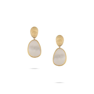 Marco Bicego Lunaria 18K Yellow Gold Mother-of-Pearl Petite Dangle Earrings
