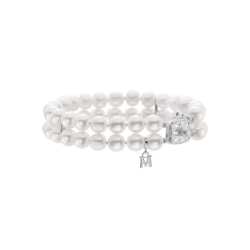 Mikimoto 7x6.5mm Akoya Pearl Two Row Bracelet