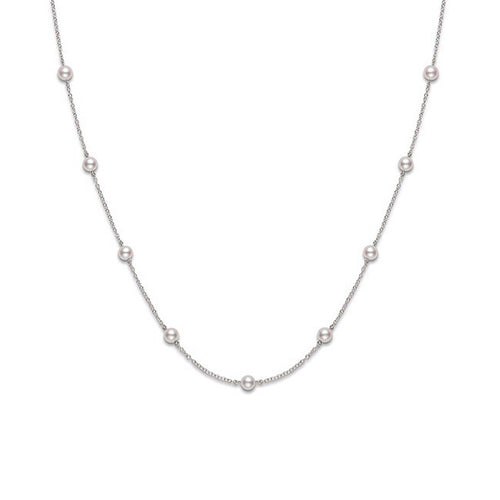 "Mikimoto Core 5mm Akoya Pearl 18"" Necklace"