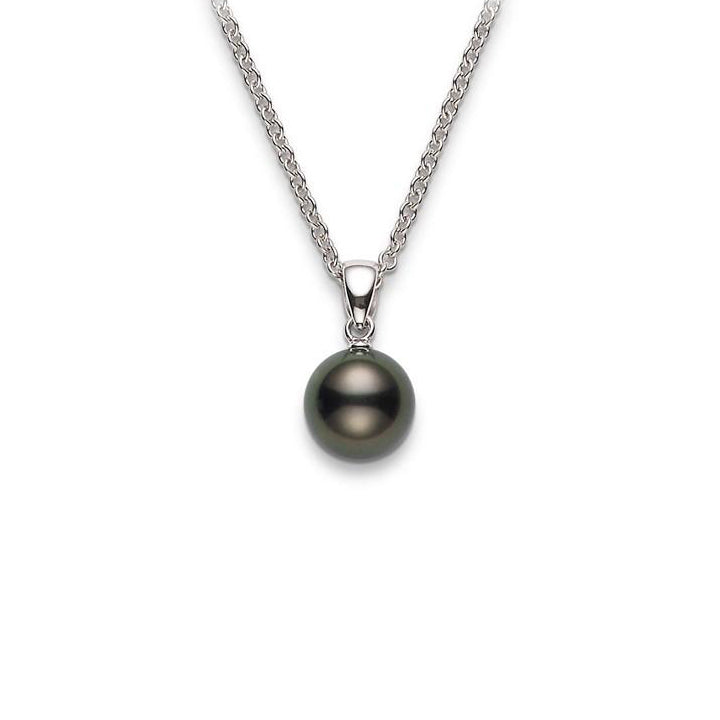 Mikimoto 8mm Black South Sea Pearl Pendant