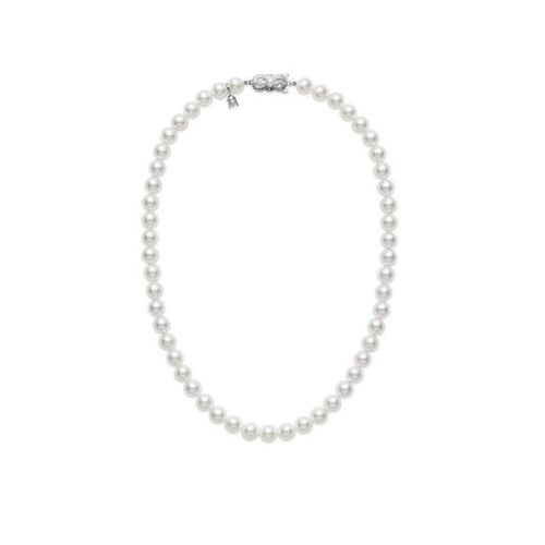 "Mikimoto 6.5mm A Akoya Pearl 18"" Necklace"