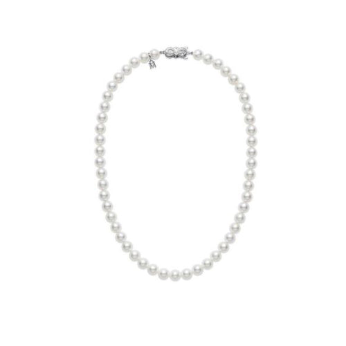 "Mikimoto 6.5x6mm A Akoya Pearl 16"" Necklace"