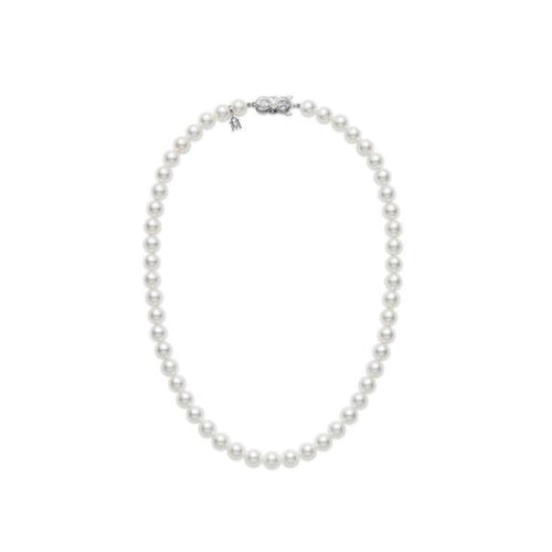"Mikimoto 6.5x6mm A Akoya Pearl 18"" Necklace"