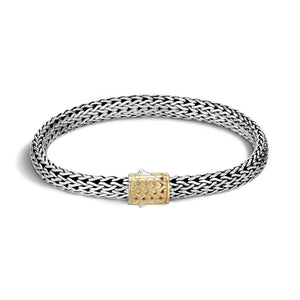 John Hardy Classic Chain Sterling Silver and 18K Yellow Gold Small Bracelet