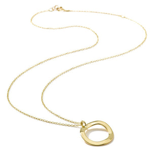 IPPOLITA Classico 18K Yellow Gold Mini Wavy Circle Pendant Necklace