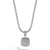 Load image into Gallery viewer, John Hardy Classic Chain Square Pendant with Black Sapphire