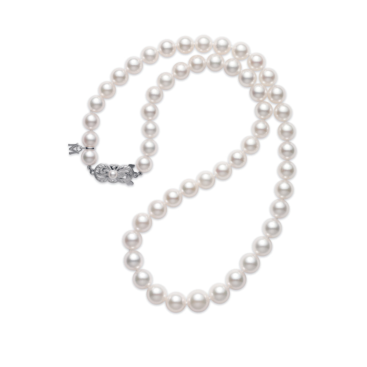 Mikimoto Everyday Essentials Graduated A1 9x7mm Akoya Pearl Necklace