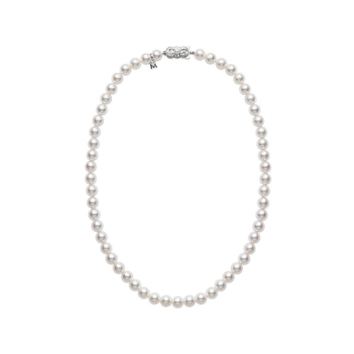 "Mikimoto 6.5mm A1 Akoya Pearl 18"" Necklace"