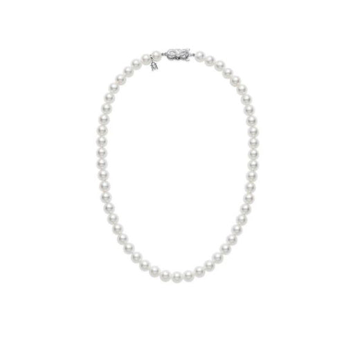 "Mikimoto Everyday Essentials 7.5x7mm A1 Akoya Pearl 16"" Necklace"