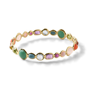 IPPOLITA Rock Candy® 18K Yellow Gold Hero Gelato Bangle in Summer Rainbow