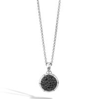 John Hardy Bamboo Small Round Pendant with Black Sapphire