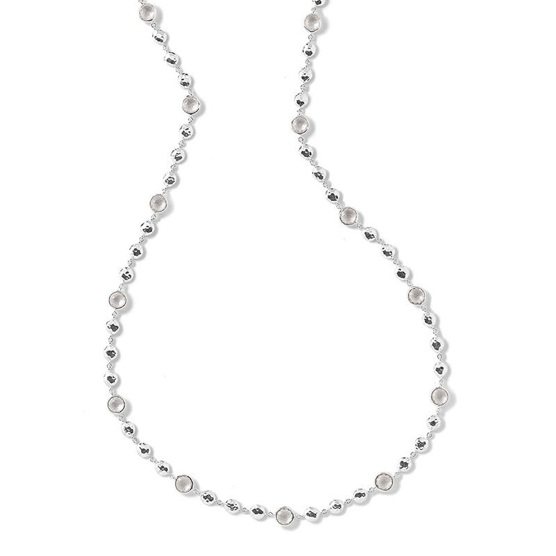 IPPOLITA Rock Candy® Stone and Hammered Bead Necklace in Clear Quartz