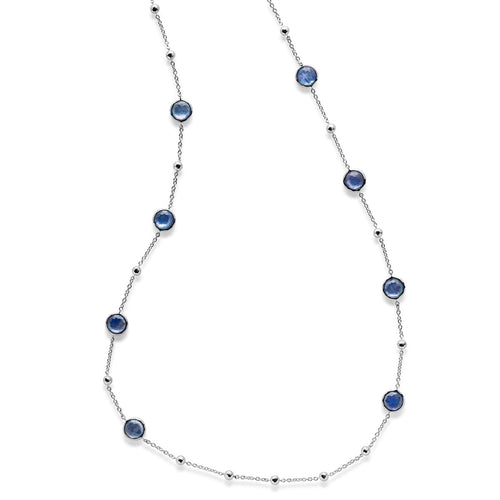 IPPOLITA Rock Candy® Sterling Silver Mini Lollipop Station Necklace in Lapis, Clear Quartz, and Mother-of-Pearl