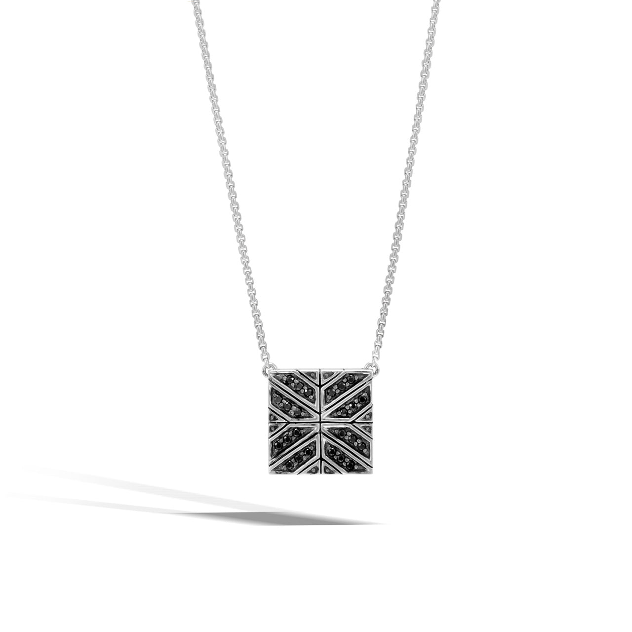 John Hardy Modern Chain Sterling Silver and Black Sapphire Pendant Necklace