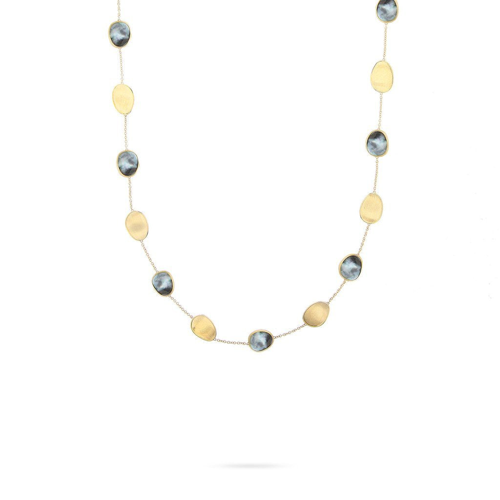 Marco Bicego Lunaria 18K Yellow Gold Black Mother-of-Pearl Necklace