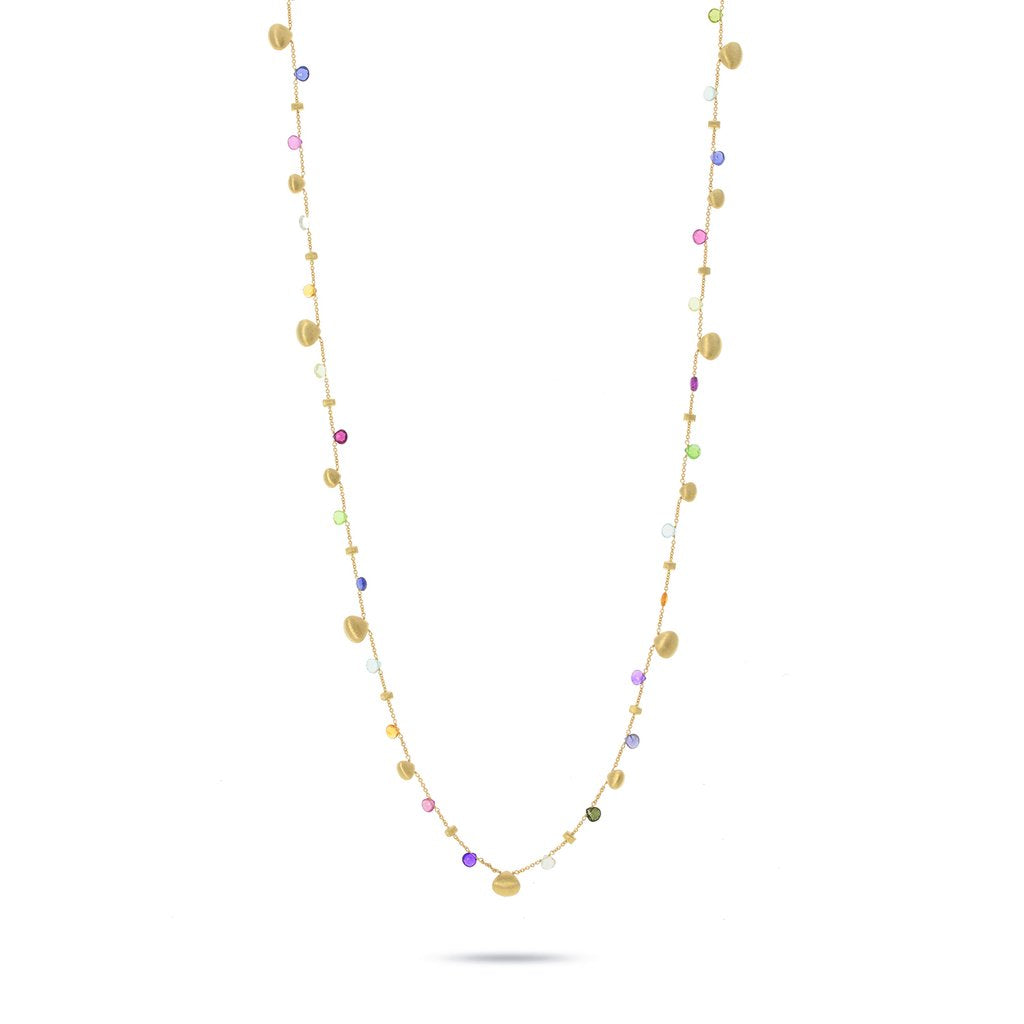 Marco Bicego Paradise 18K Yellow Gold Mixed Gemstone Sautoir Necklace