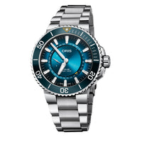 Oris Aquis Great Barrier Reef Limited Edition III Watch with Blue Dial and Bracelet