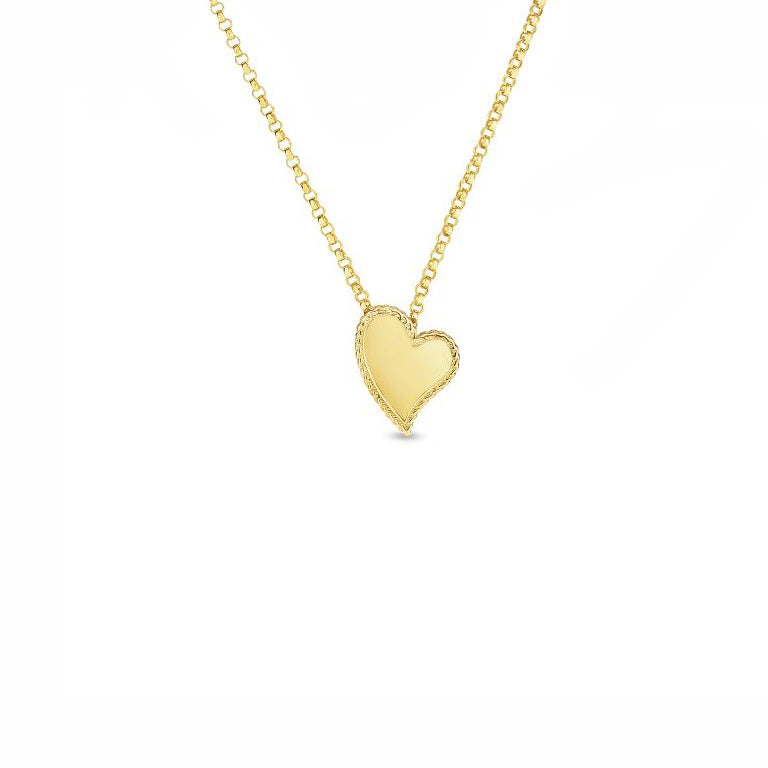 Roberto Coin Princess 18K Yellow Gold Heart Pendant