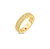 Load image into Gallery viewer, Roberto Coin Byzantine Barocco 18K Yellow Gold Diamond Single Row Ring