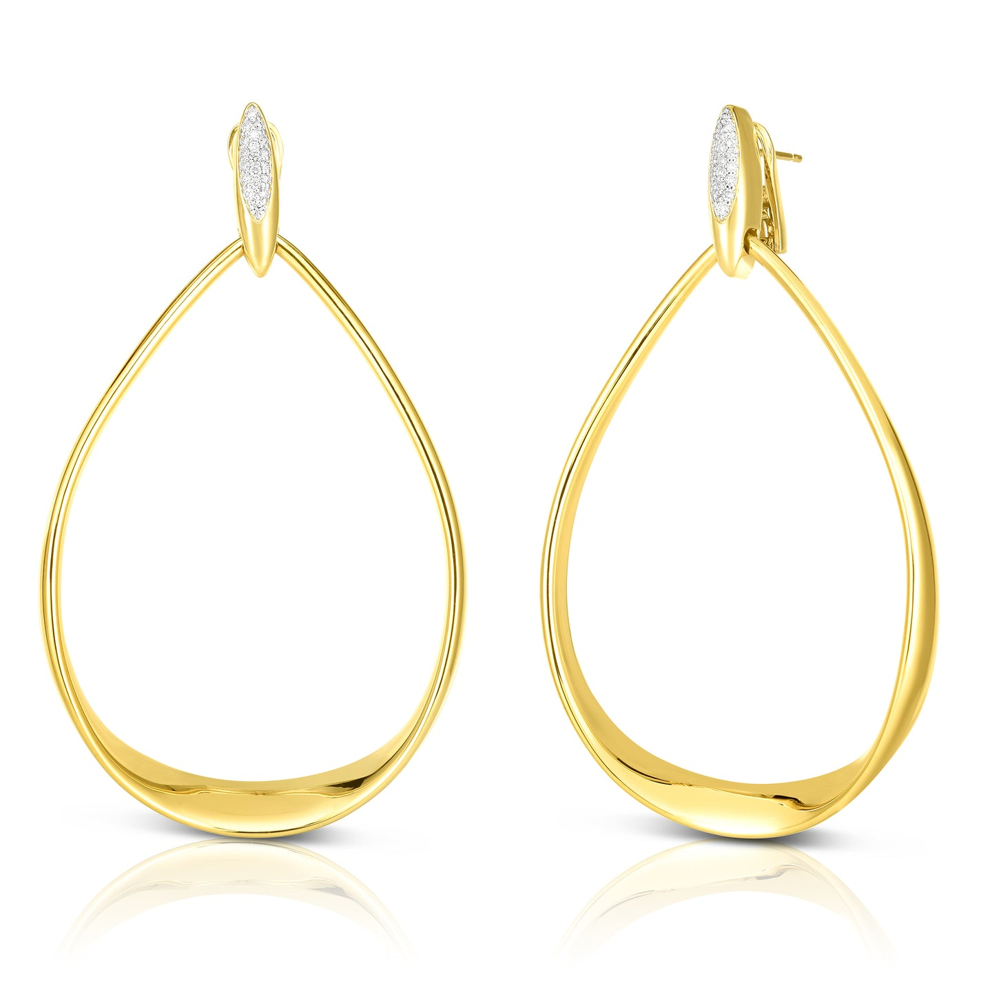 Roberto Coin Oro Classic 18K Yellow Gold Large Teardrop Earrings