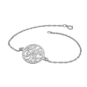 Fink's 20mm Classic Bordered Monogram Bracelet