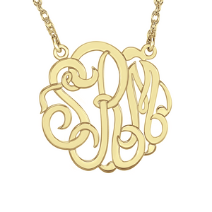 Fink's 40mm Classic Monogram Necklace