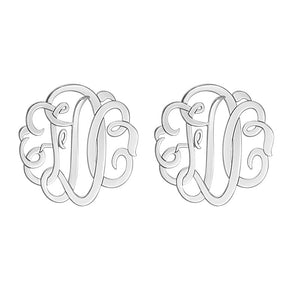 Fink's 20mm Classic Monogram Stud Earrings