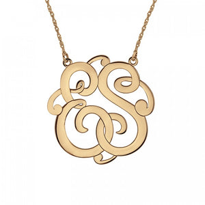 Fink's 25mm Custom Classic Two Initial Monogram Necklace