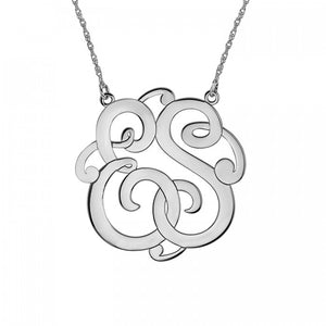 Fink's 40mm Classic Two Initial Monogram Necklace