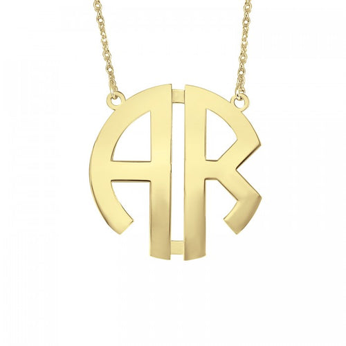 Fink's 25mm Original Two Initial Monogram Necklace