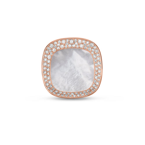Roberto Coin Carnaby Street 18K Rose Gold White Mother-of-Pearl and Diamond Ring