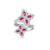 Load image into Gallery viewer, Roberto Coin Princess Flower 18K White Gold Diamond and Ruby Crossover Ring