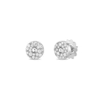 Roberto Coin Pois Moi Luna Diamond Stud Earrings in 18K White Gold