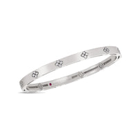 Roberto Coin Love in Verona 18K White Gold Bangle with Diamond Accents