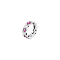 Roberto Coin Love in Verona 18K White Gold Diamond and Ruby Ring