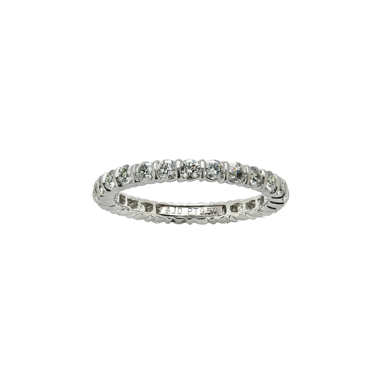 Fink's Platinum Round Diamond Bar Set Eternity Band
