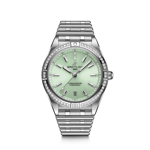 Breitling Chronomat Colt Automatic 36 with Diamond Bezel and Green Dial - Available for Pre-Order