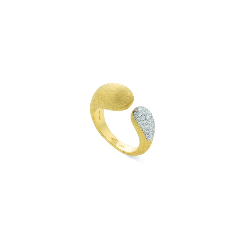 Marco Bicego Lucia 18K Yellow Gold Diamond Kissing Ring