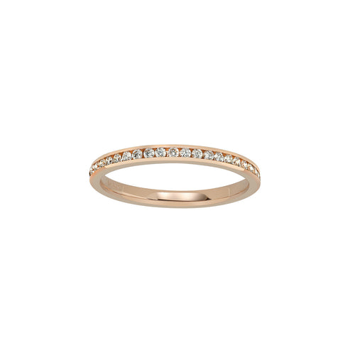 Fink's 18K Rose Gold Channel Set Diamond Wedding Band