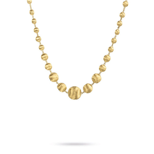 Marco Bicego Africa 18K Yellow Gold Graduated Bead Collar Necklace