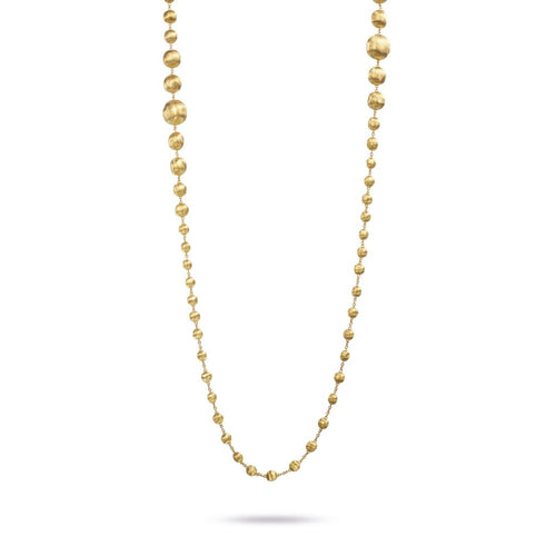 Marco Bicego Africa 18K Yellow Gold Graduated Double Wave Bead Necklace